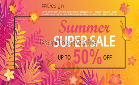 summer super sale card