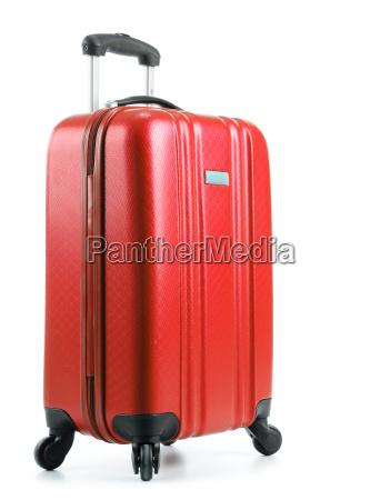 reisekoffer isoliert auf weissem hintergrund