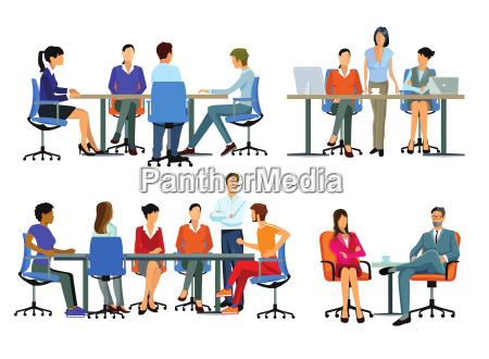 arbeitsablauf bueroarbeit business team und teamarbeit