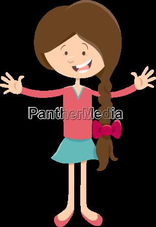 teen girl cartoon character