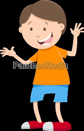 happy boy cartoon character