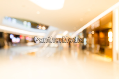 abstract blur shopping mall store interior