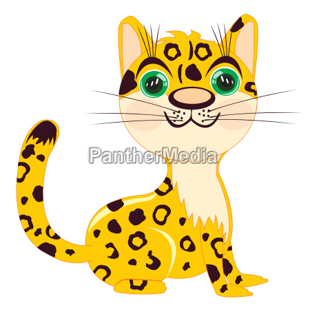 illustration of the leopard on white