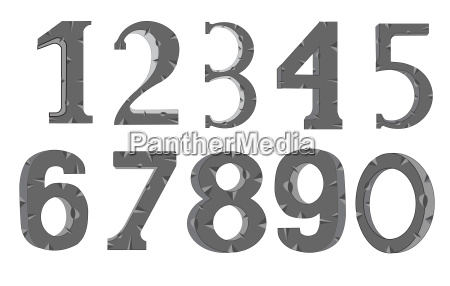 decorative numerals