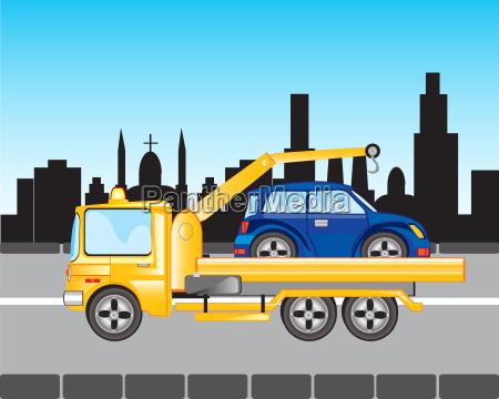 auto zu evakuierungen in der stadt