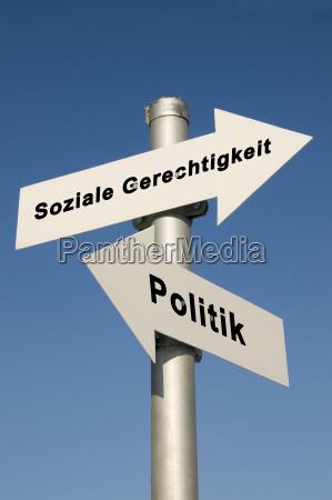 politik und soziale gerechtikgeit symbolfoto