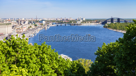 view of kiev city with river