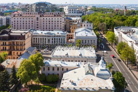above view of hrushevskoho street in