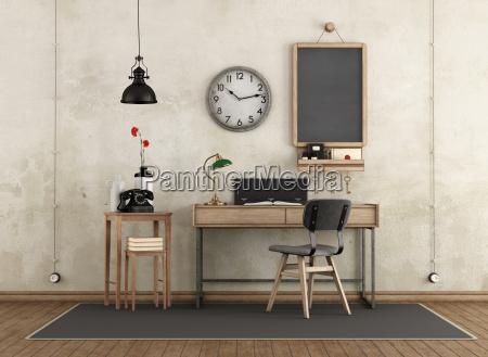 home arbeitsbereich im industriellen stil