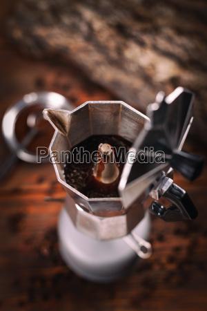 percolierter espressokaffee