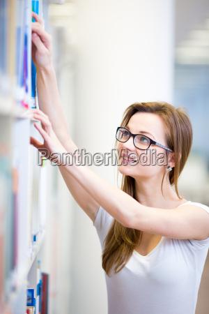 pretty female college student in a