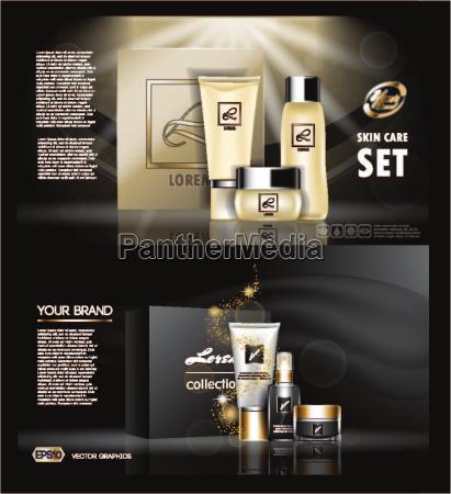 digital vector golden and black skin