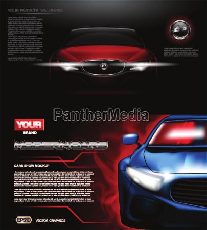 digitale vektor rot modernen sport auto