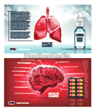 digital vector red medicine lungs