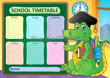 weekly school timetable subject 8