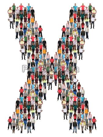letter x alphabet people people people