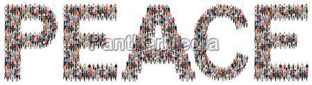 peace, frieden, friede, leute, menschen, people - 21849115