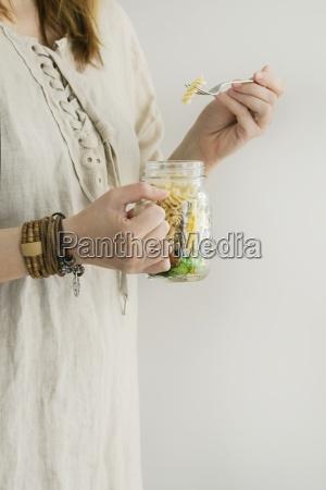 a woman in a linen dress