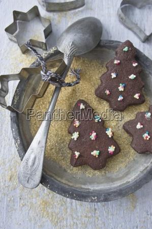 weihnachtsbaum schokoladenkekse zu weihnachten