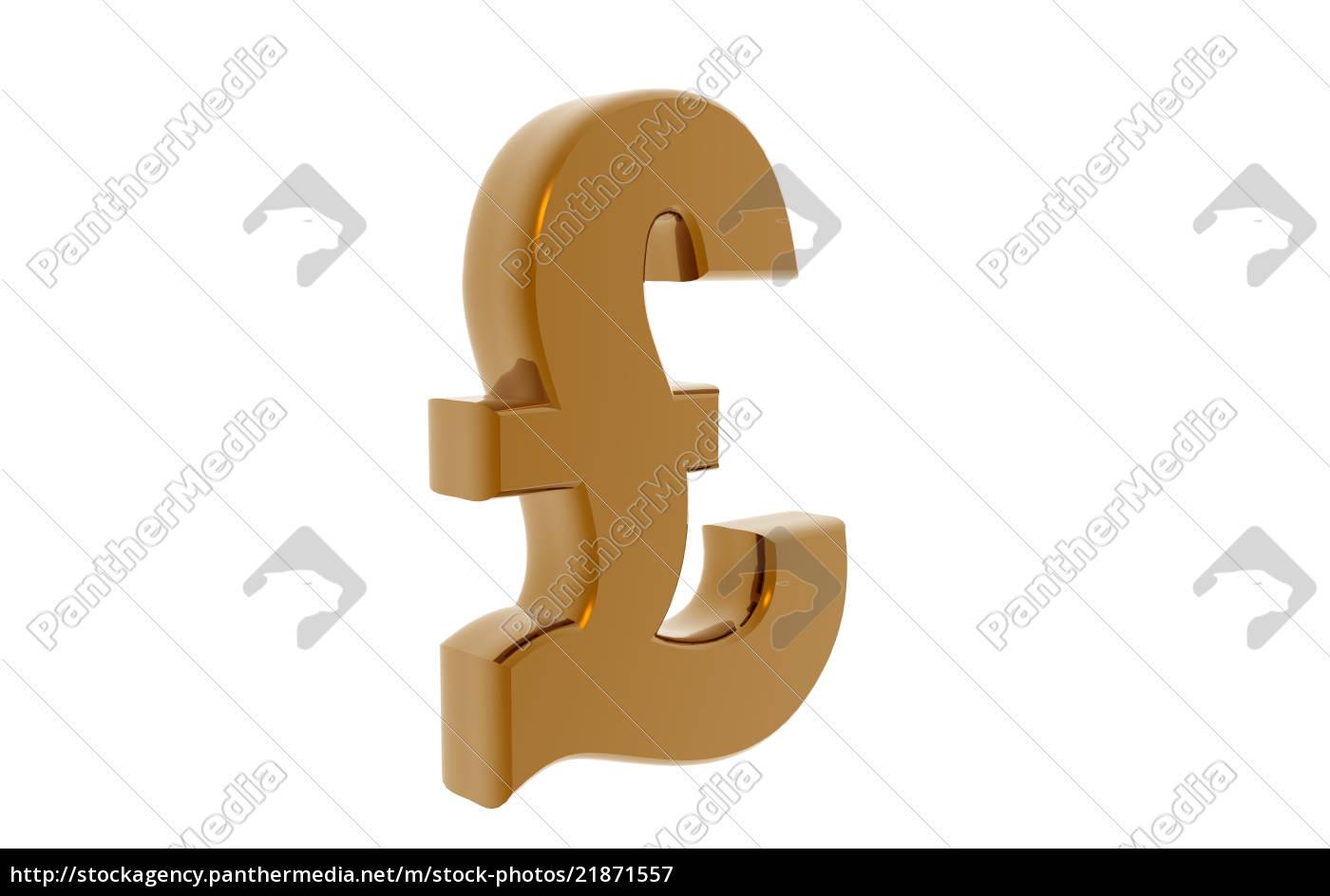 pfund, zeichen, freigestellt, - 21871557