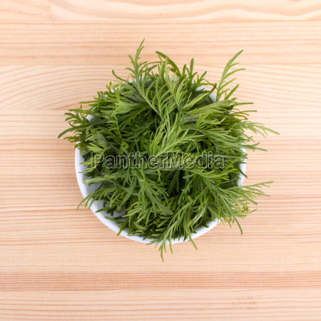 porcelain bowl with fresh twigs of