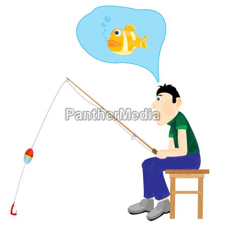 illustration maenner denken ueber angeln