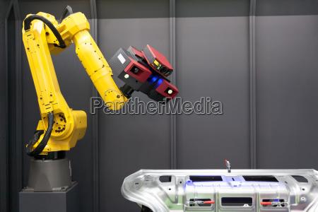 automatisiertes scannen 3d scanner auf roboterarm