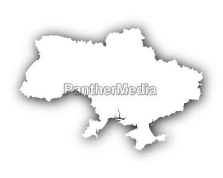 karte von ukraine mit schatten