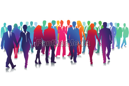 group of people on white illustration