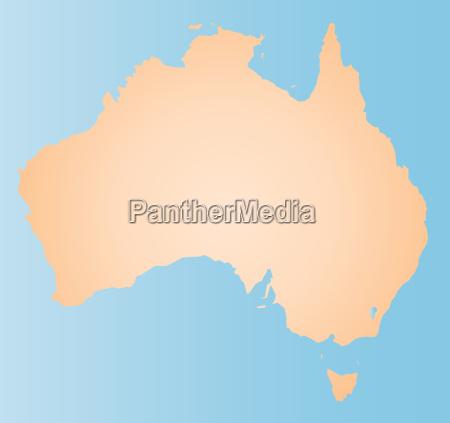 australien fuenfter kontinent down under silhouette