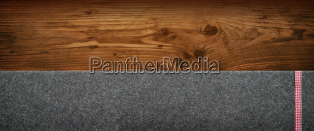 rustic background with wood and felt