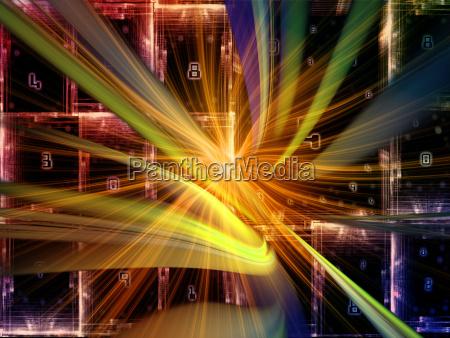 visualization of digital world