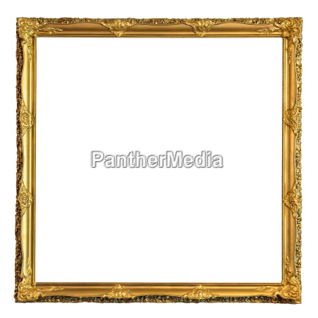 quadratischer dekorativer goldener bild rahmen