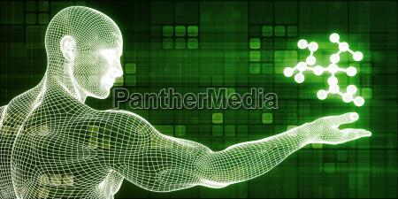 wissenschaft technik futuristisch atom technologie abstraktes