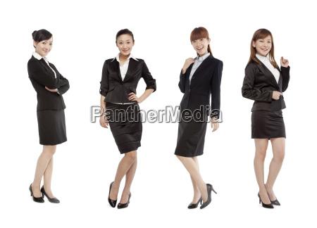 four women dress in suit