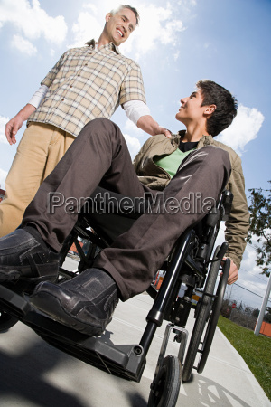 father with disabled son