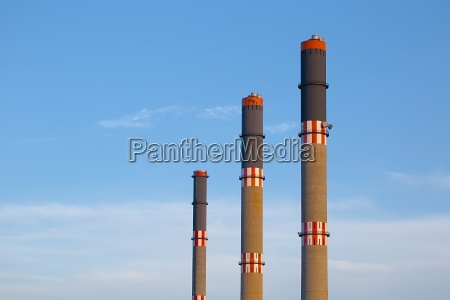 industrial chimney line