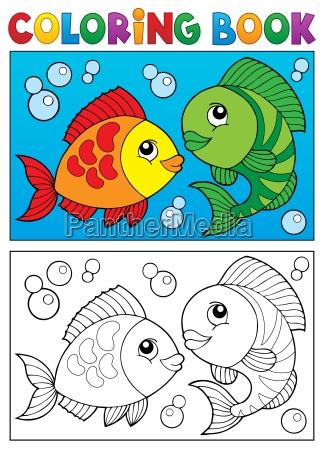 malbuch mit fisch thema 5