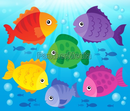 stylized fishes theme image 3