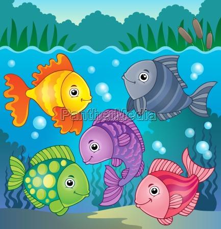 stylized fishes theme image 8