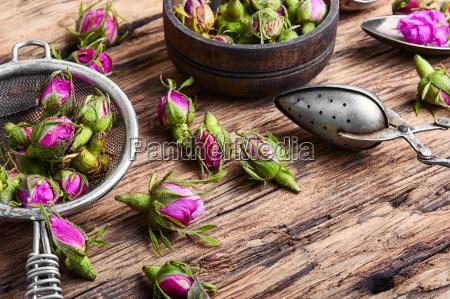rosebudtea made from tea rose petals