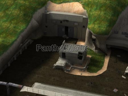 militaerlager mit bunker