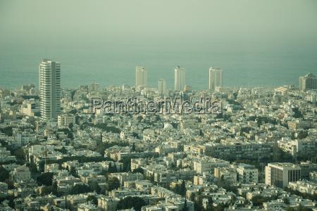 luftaufnahme der stadt tel aviv israel