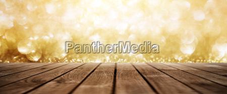 golden abstract glitter lights background