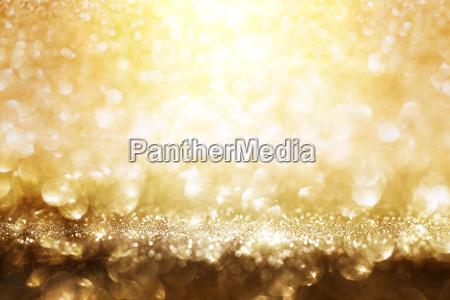 golden glitter lights background