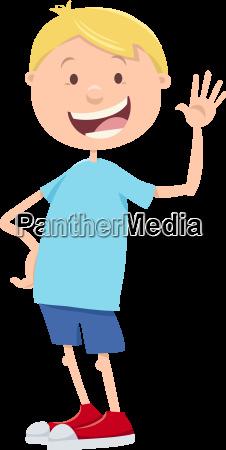 teen boy cartoon illustration