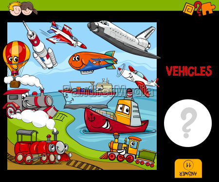 counting vehicles educational game
