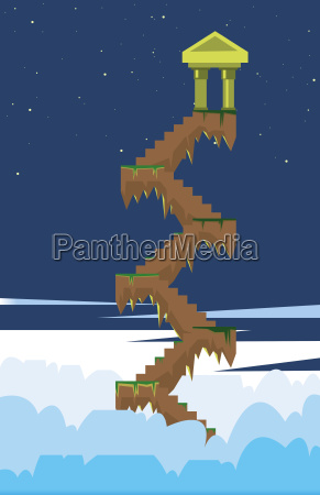 digital vector fairytale and fantasy stairs