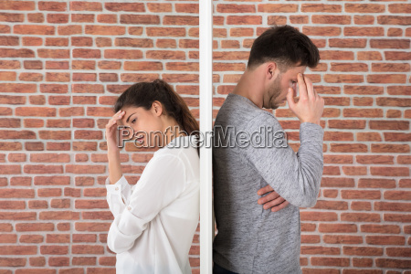 depressed young couple