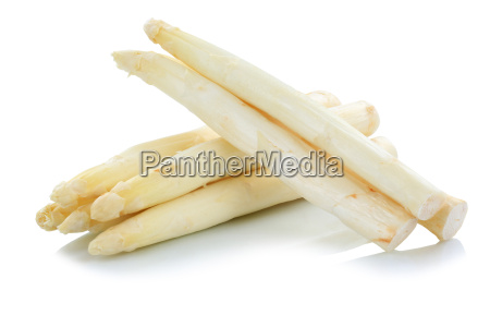 white white asparagus isolated white white